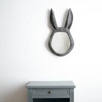 Miroir lapin Auguste - Granit