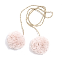 Pompons tulle M - Rose/Or