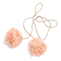 Pompons voile de coton M - Saumon/Or