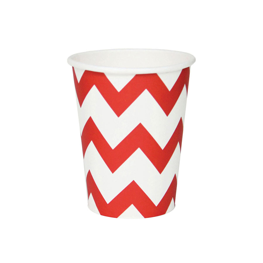 PROMO 8 gobelets Chevrons - Rouge - My Little Day Les Enf...