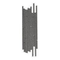 25 pailles Chevrons - Noir