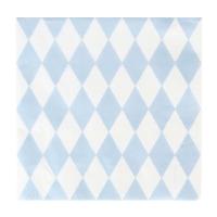 20 serviettes Losanges - Bleu clair