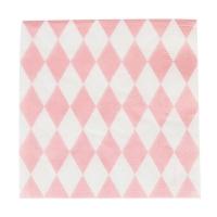 20 serviettes Losanges - Rose clair