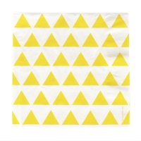 20 serviettes Triangles - Jaune