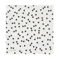 20 serviettes Noeuds - Noir