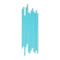 25 pailles - Bleu clair