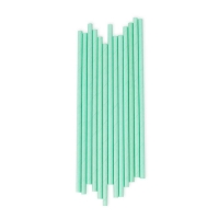25 pailles - Vert d'eau