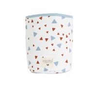 Panier de rangement Mambo Confettis - Bleu/Rouille