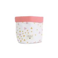 Panier de rangement Mambo Confettis - Rose/Moutarde