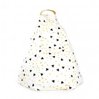 pouf marrakech eclairs noir jaune nobodinoz pour chambre enfant les enfants du design. Black Bedroom Furniture Sets. Home Design Ideas