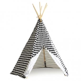 tipi arizona losanges noir nobodinoz pour chambre enfant les enfants du design. Black Bedroom Furniture Sets. Home Design Ideas