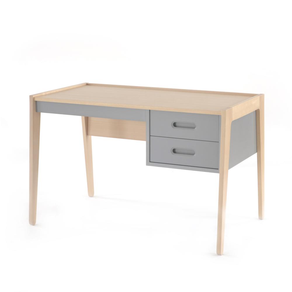 bureau gris nobodinoz pour chambre enfant les enfants. Black Bedroom Furniture Sets. Home Design Ideas