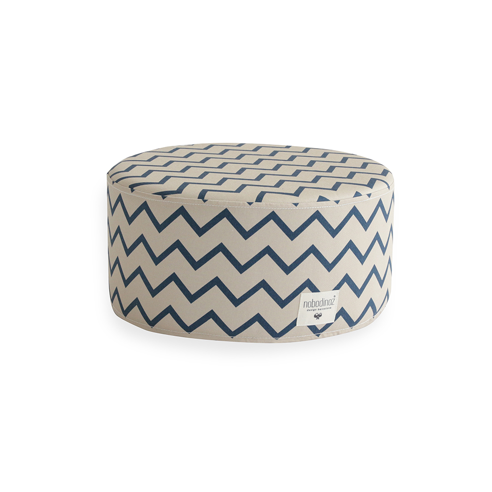 pouf soho zig zag s bleu nobodinoz pour chambre enfant les enfants du design. Black Bedroom Furniture Sets. Home Design Ideas