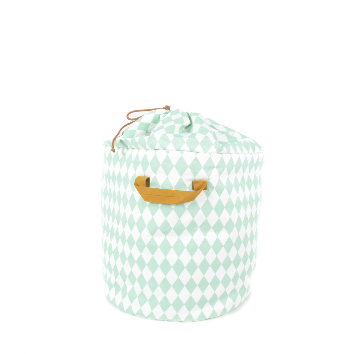panier de rangement baobab s losanges mint nobodinoz pour chambre enfant les enfants du design. Black Bedroom Furniture Sets. Home Design Ideas