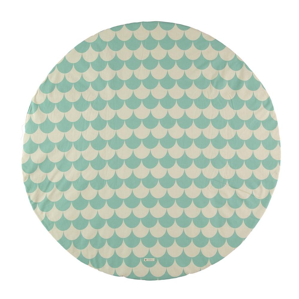 tapis apache pour tipi ecailles vert tropical nobodinoz pour chambre enfant les enfants du. Black Bedroom Furniture Sets. Home Design Ideas