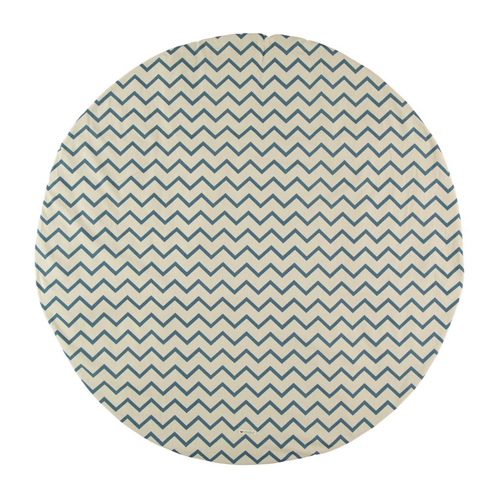 tapis apache pour tipi zig zag bleu nobodinoz pour. Black Bedroom Furniture Sets. Home Design Ideas