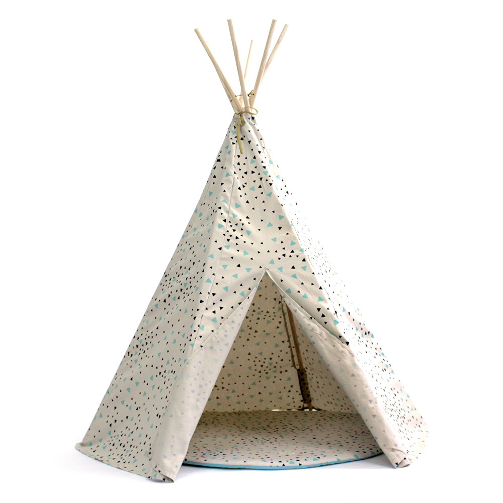 tipi enfants nobodinoz arizona confettis vert noir la tente d 39 indien. Black Bedroom Furniture Sets. Home Design Ideas