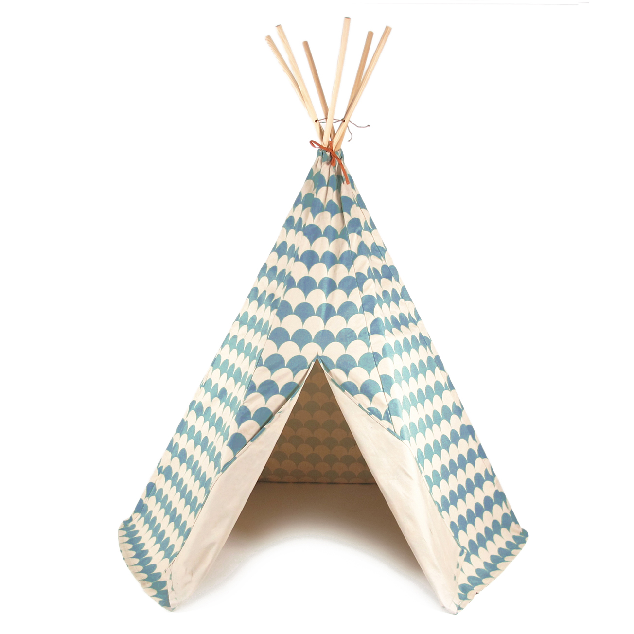 tipi arizona ecailles bleu nobodinoz pour chambre enfant. Black Bedroom Furniture Sets. Home Design Ideas