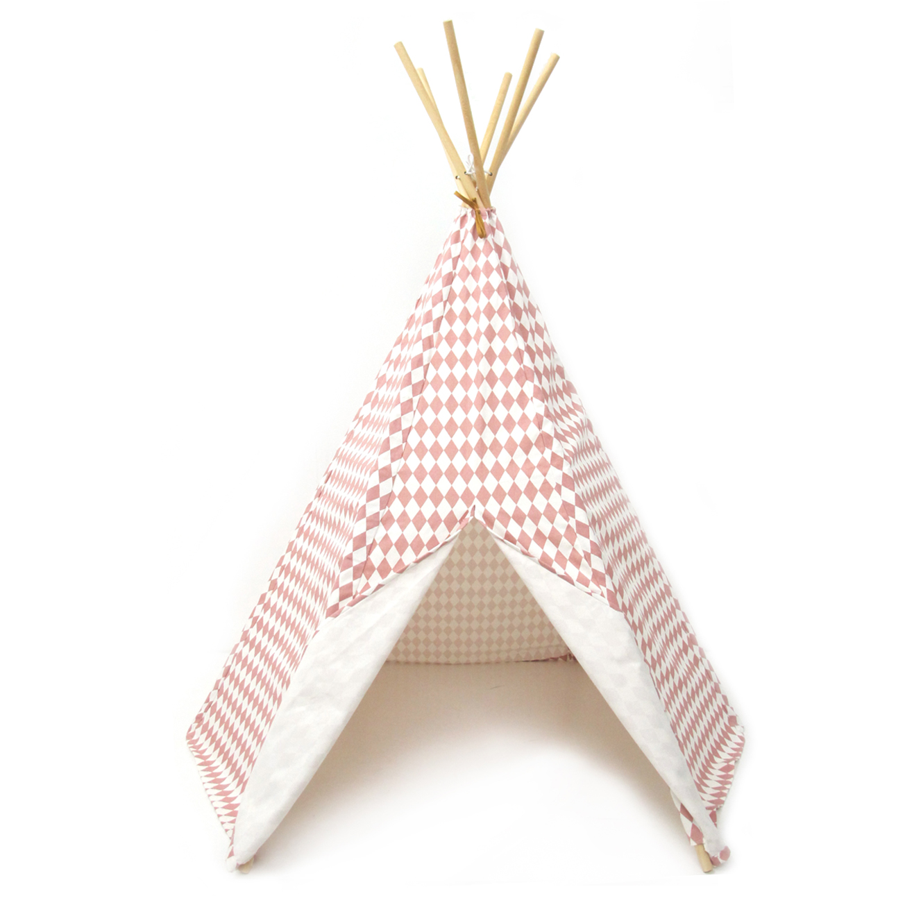 tipi arizona losanges rose nobodinoz pour chambre enfant. Black Bedroom Furniture Sets. Home Design Ideas