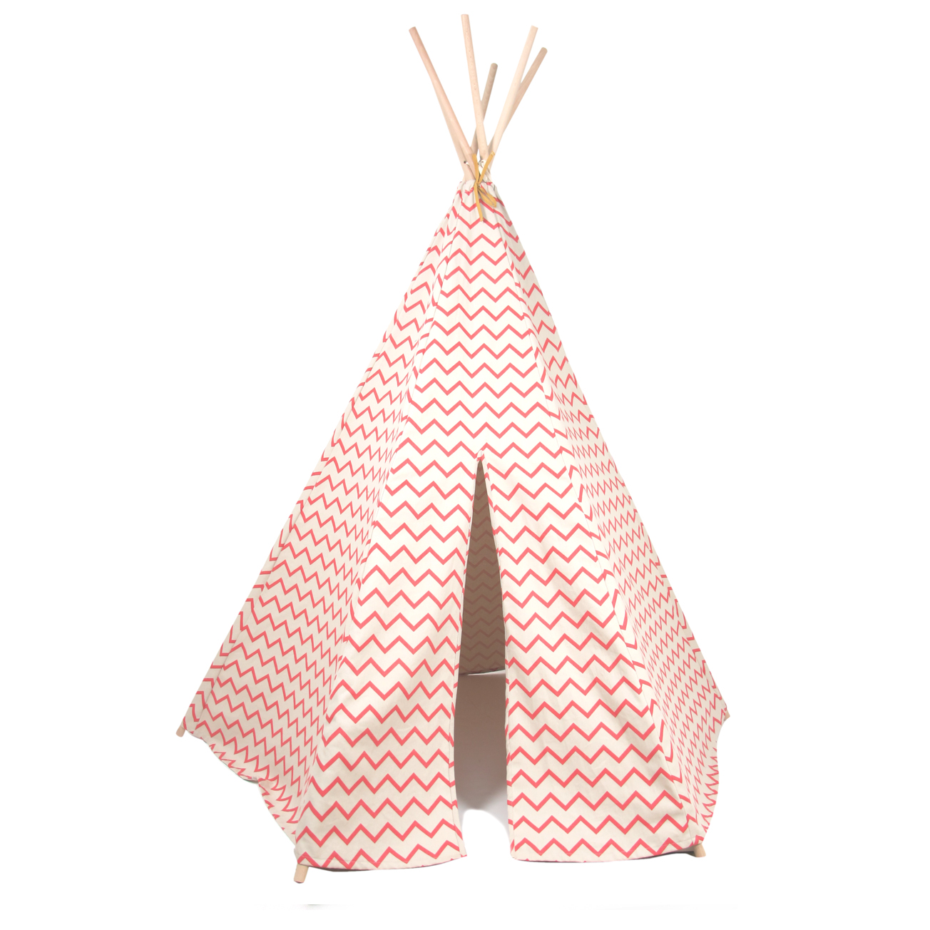 tipi arizona zig zag rose nobodinoz pour chambre enfant. Black Bedroom Furniture Sets. Home Design Ideas