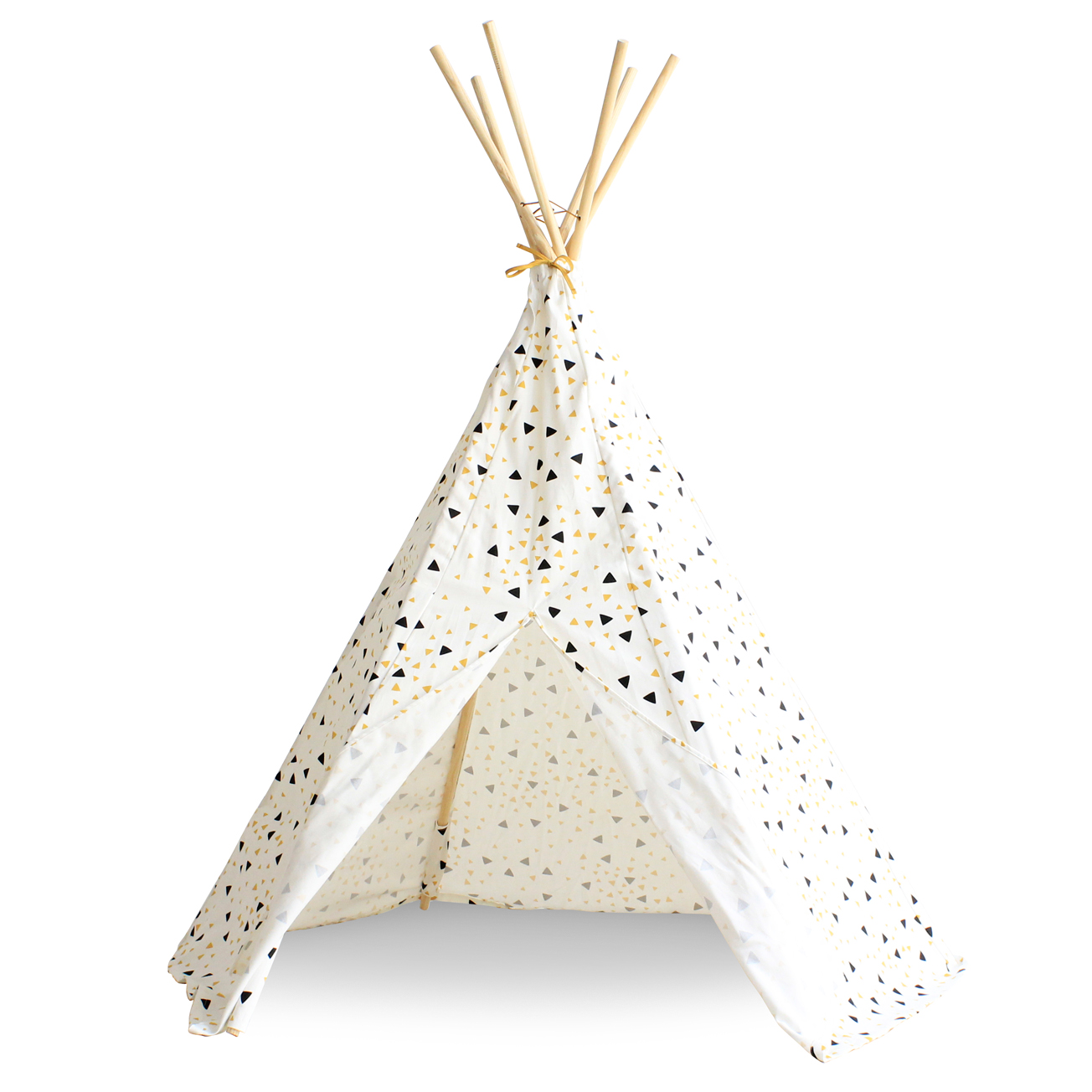 tipi arizona eclairs noir jaune nobodinoz pour chambre enfant les enfants du design. Black Bedroom Furniture Sets. Home Design Ideas