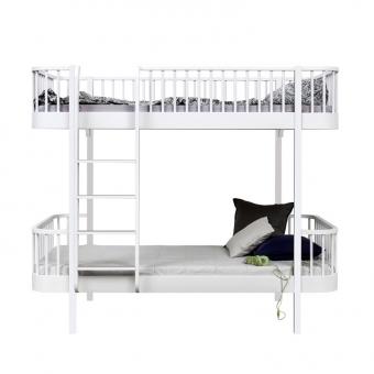 lit superpos wood chelle face blanc oliver furniture pour chambre enfant les enfants du design. Black Bedroom Furniture Sets. Home Design Ideas