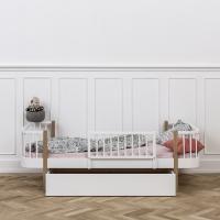 Tiroir de rangement Wood pour lits 90 x 200 - Blanc