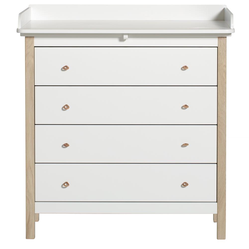 Commode et plan langer blanc ch ne oliver furniture pour chambre enfant les enfants du - Commode et plan a langer ...