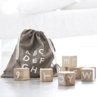 Cubes Alphabet - Blanc