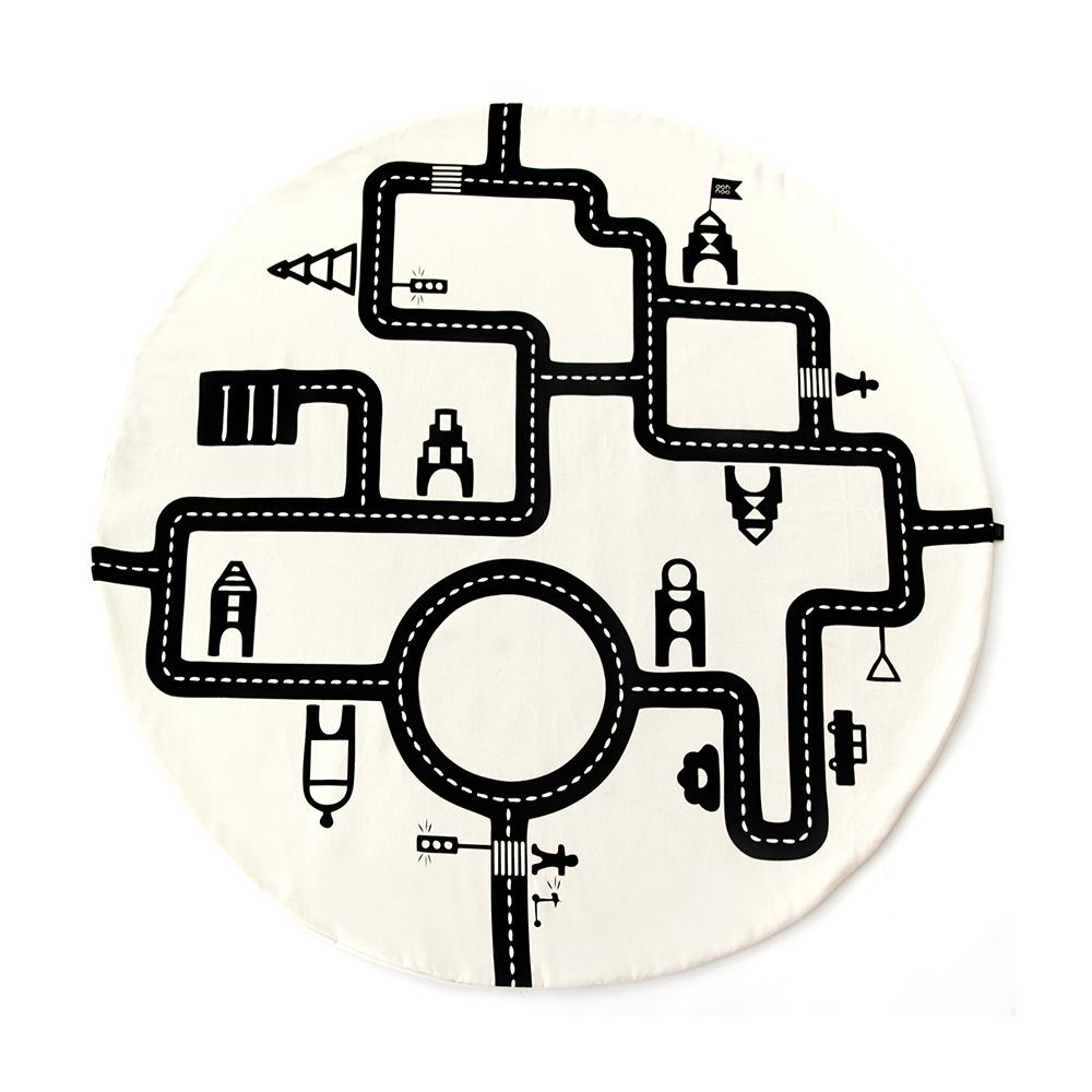 Tapis de jeu circuit little village ooh noo pour chambre for Tapis circuit design