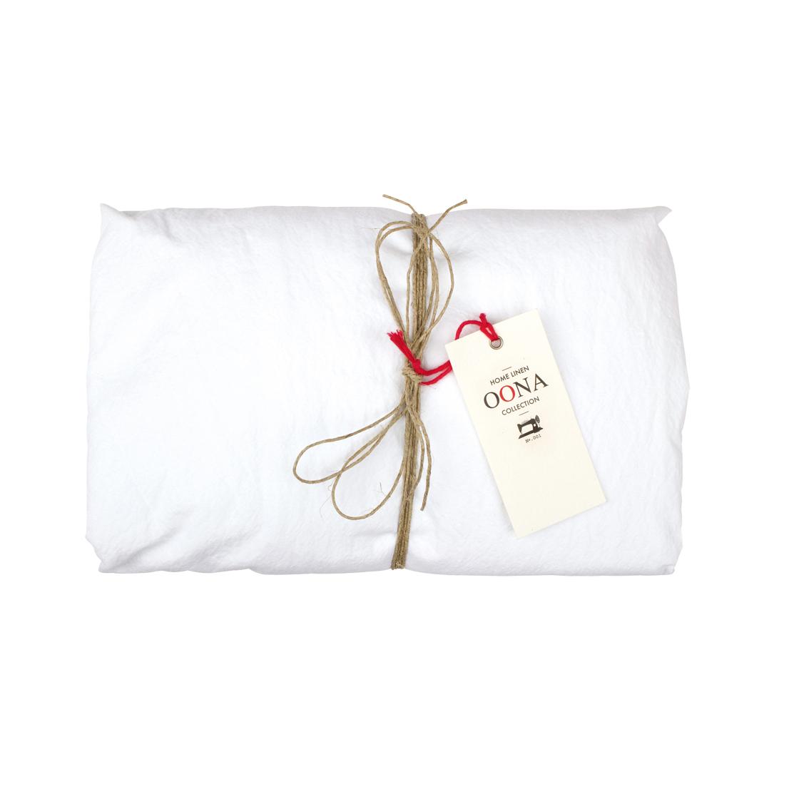 Drap housse coton blanc oona pour chambre enfant les for Drap housse blanc