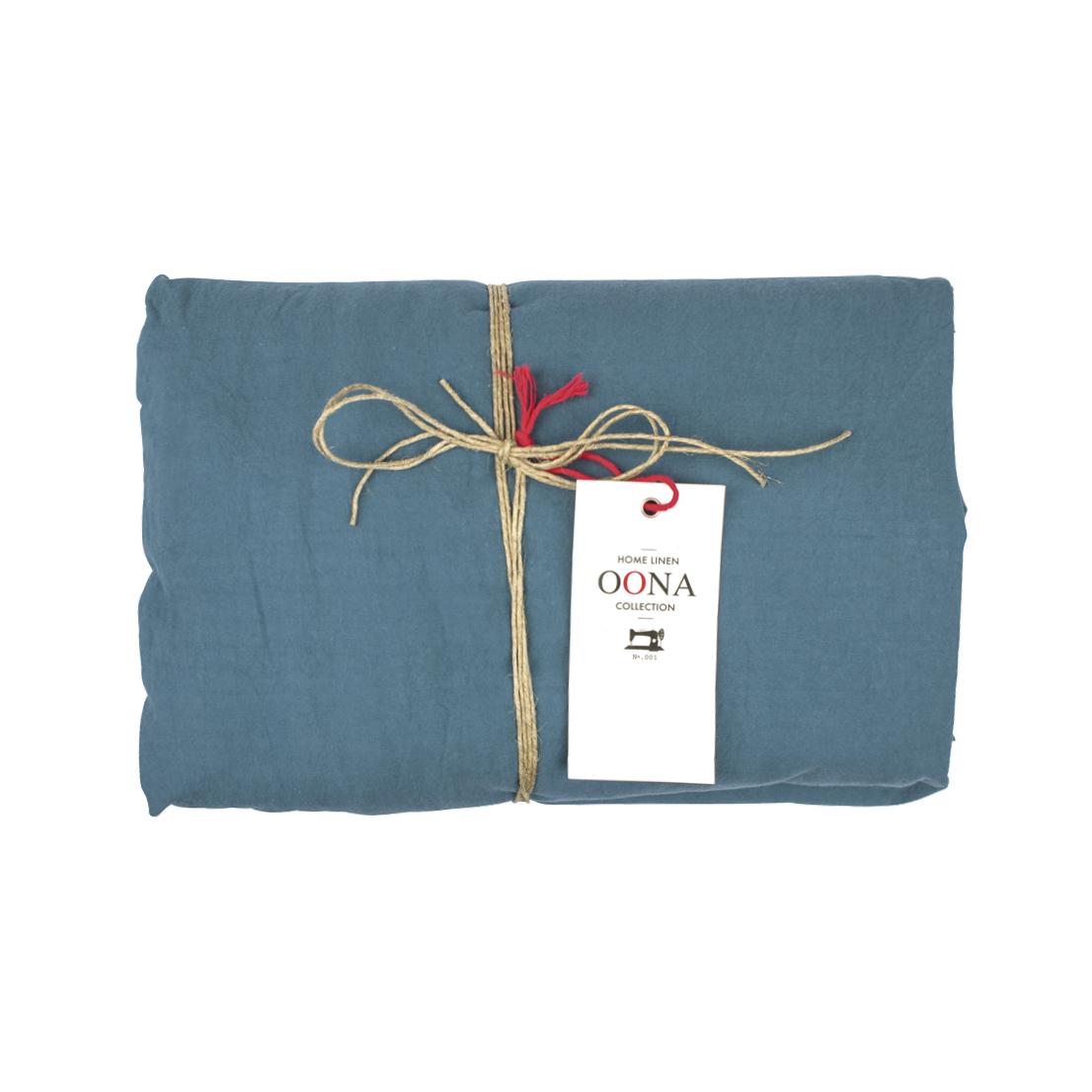 drap housse coton bleu canard oona pour chambre enfant. Black Bedroom Furniture Sets. Home Design Ideas