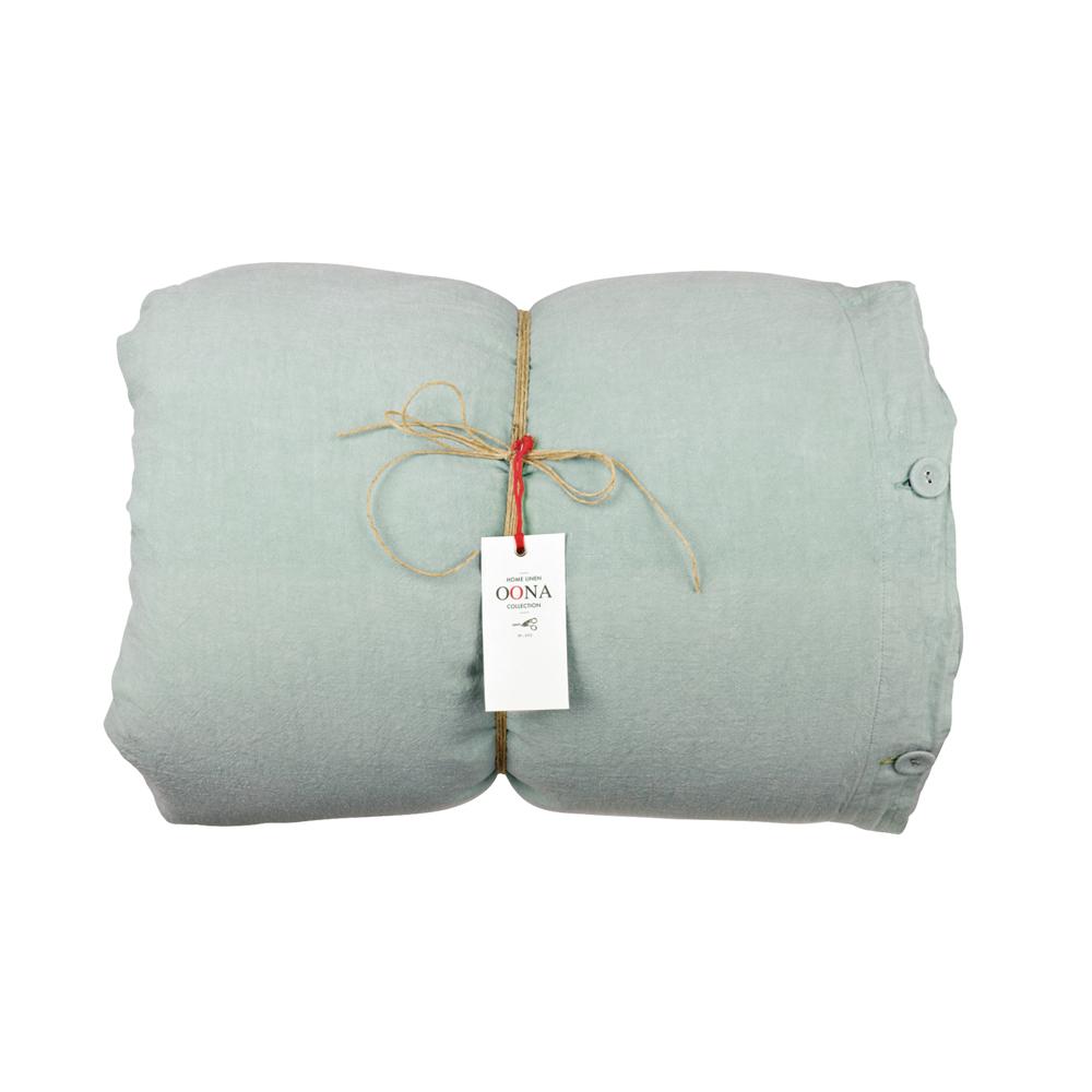 housse de couette lin seafoam oona pour chambre enfant les enfants du design. Black Bedroom Furniture Sets. Home Design Ideas