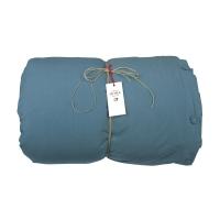 Housse de couette Coton - bleu sarcelle