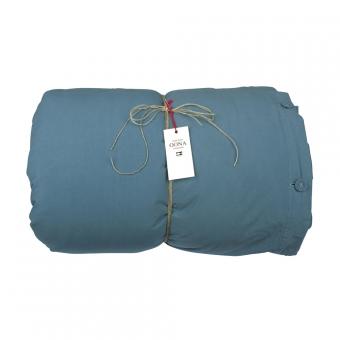 Housse de couette coton bleu sarcelle oona pour chambre - Housse couette bleu canard ...