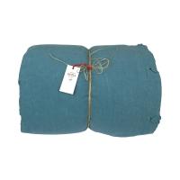 Taie d 39 oreiller odette bleu canard la cerise sur le - Housse couette bleu canard ...