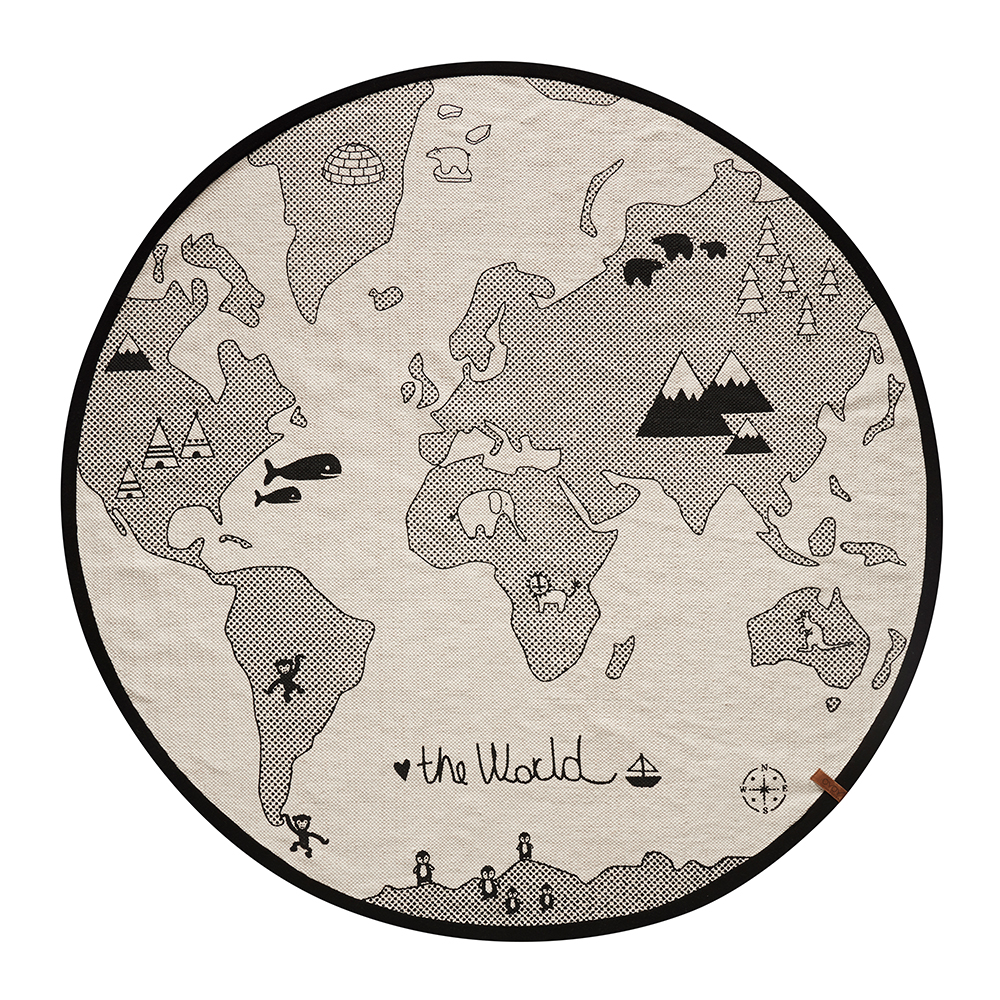 Tapis the rug world mappemonde oyoy pour chambre enfant les enfants du design - Les enfants du design ...