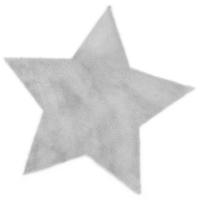 Tapis Etoile - Gris clair