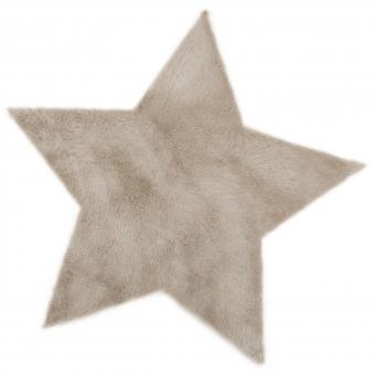 Tapis etoile gris taupe pilepoil pour chambre enfant - Tapis etoile gris ...