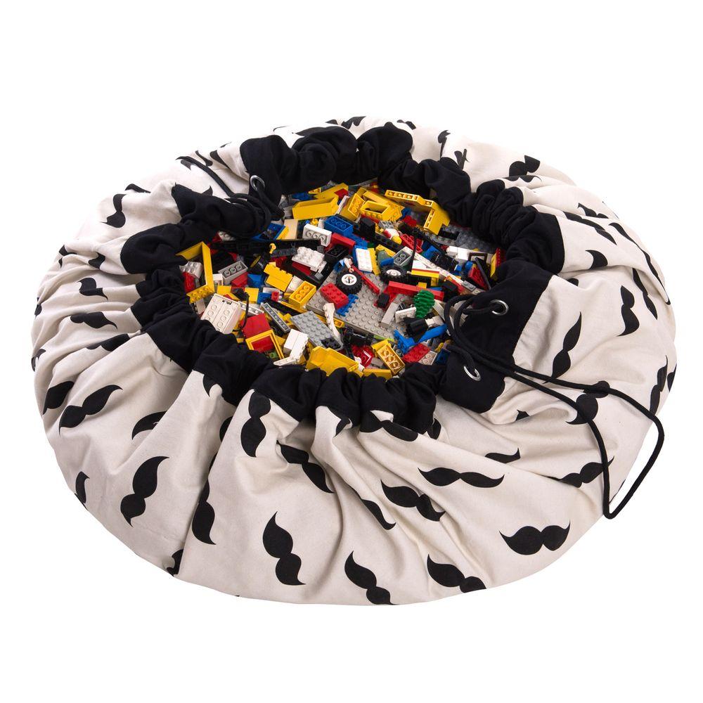 sac tapis de jeux moustache play go pour chambre enfant les enfants du design. Black Bedroom Furniture Sets. Home Design Ideas