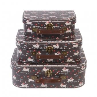 Set de 3 valises Lapins