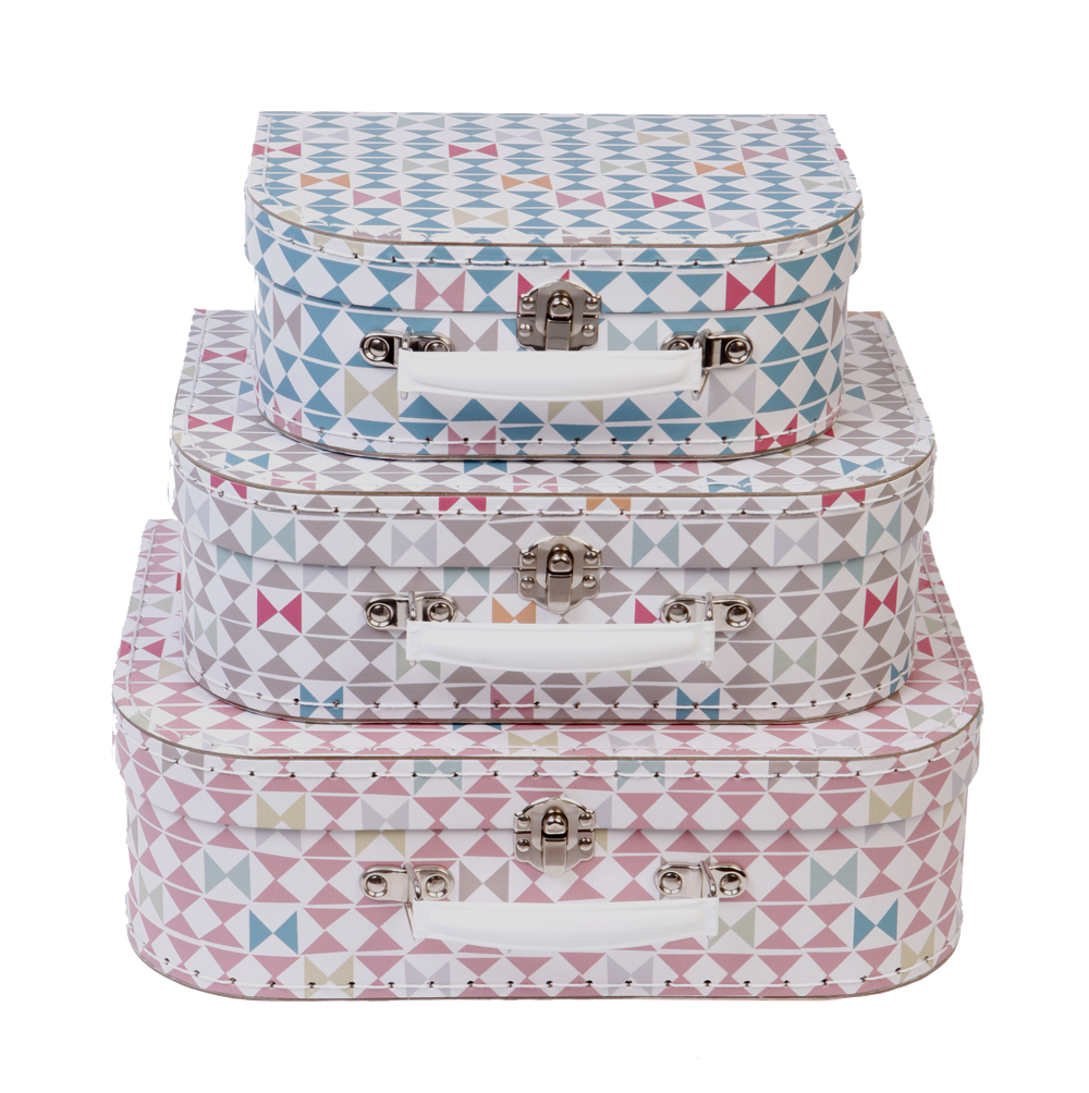 set de 3 valises g om trie rjb stone pour chambre enfant les enfants du design. Black Bedroom Furniture Sets. Home Design Ideas