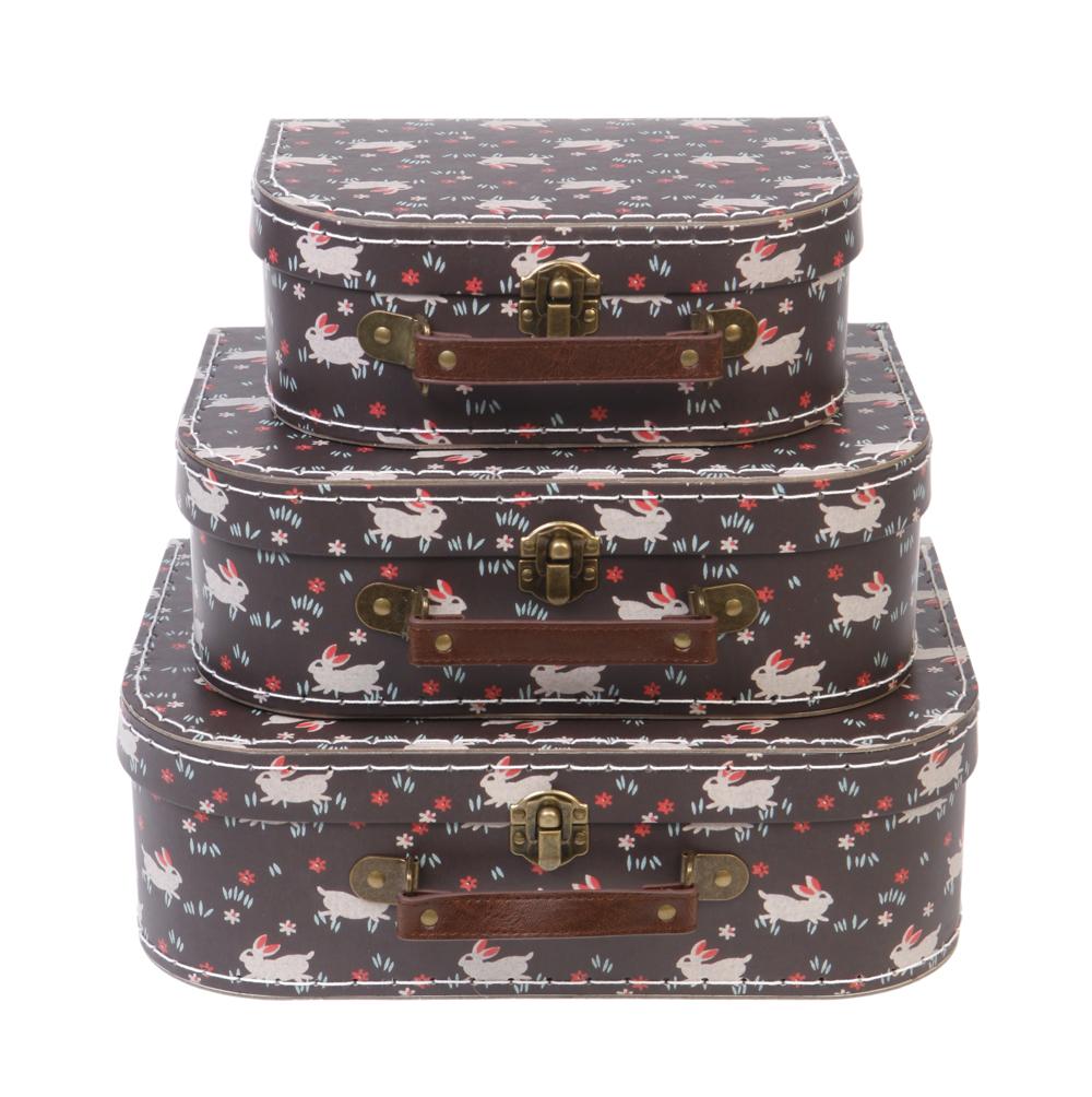 set de 3 valises lapins rjb stone pour chambre enfant les enfants du design. Black Bedroom Furniture Sets. Home Design Ideas