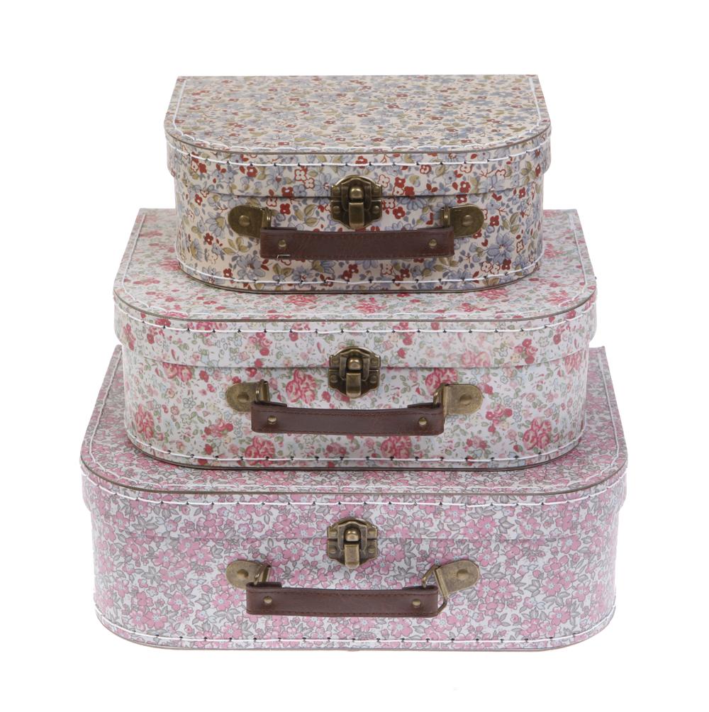 set de 3 valises liberty rjb stone pour chambre enfant les enfants du design. Black Bedroom Furniture Sets. Home Design Ideas