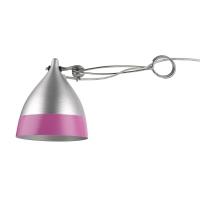 Lampe Cornette à pincer - Rose et Inox