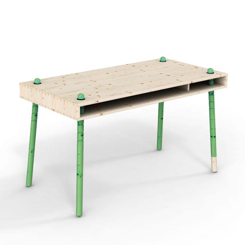 caspar bureau enfant volutif pieds verts perludi pour chambre enfant les enfants du design. Black Bedroom Furniture Sets. Home Design Ideas