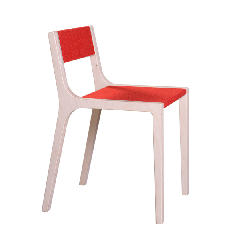 Chaise de bureau design slawomir rouge sirch pour - Chaise de bureau rouge ...