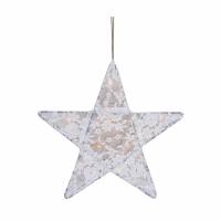 Lanterne étoile dentelle - Blanc