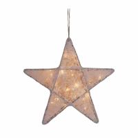 Lanterne étoile dentelle - Rose poudré