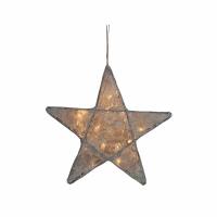 Petite lanterne étoile dentelle - Argent